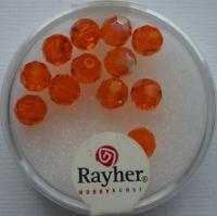 Rayher Rund-Schliffperlen 6mm 12 St. capriorange