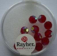 Rayher Rund-Schliffperlen 6mm 12 St. rubin