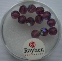 Rayher Rund-Schliffperlen 6mm 12 St. amethyst
