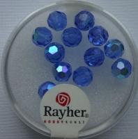 Rayher Rund-Schliffperlen 6mm 12 St. saphir