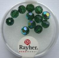 Rayher Rund-Schliffperlen 6mm 12 St. smaragd
