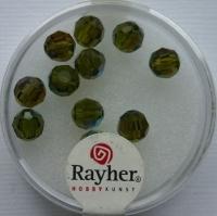Rayher Rund-Schliffperlen 6mm 12 St. olive
