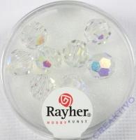 Rayher Rund-Schliffperlen 8mm 8 St. bergkristall
