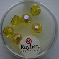 Rayher Rund-Schliffperlen 8mm 8 St. lichtgelb
