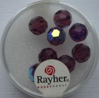 Rayher Rund-Schliffperlen 8mm 8 St. amethyst