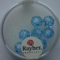 Rayher Rund-Schliffperlen 8mm 8 St. aquamarin