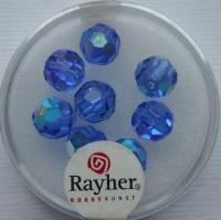 Rayher Rund-Schliffperlen 8mm 8 St. saphir