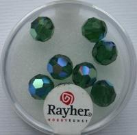 Rayher Rund-Schliffperlen 8mm 8 St. smaragd