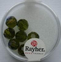 Rayher Rund-Schliffperlen 8mm 8 St. olive