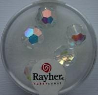 Rayher Rund-Schliffperlen 10mm 5 St. bergkristall