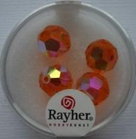 Rayher Rund-Schliffperlen 10mm 5 St. capriorange