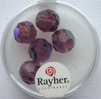 Rayher Rund-Schliffperlen 10mm 5 St. amethyst