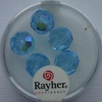 Rayher Rund-Schliffperlen 10mm 5 St. aquamarin