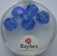 Rayher Rund-Schliffperlen 10mm 5 St. saphir
