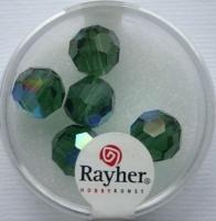Rayher Rund-Schliffperlen 10mm 5 St. smaragd