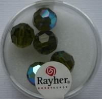 Rayher Rund-Schliffperlen 10mm 5 St. olive