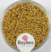 Rayher Rocailles 2mm perlmutt 17g gold