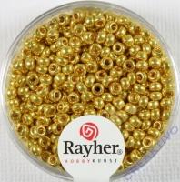 Rayher Rocailles 2,6mm perlmutt gold