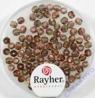 Glas-Schliffperlen, 3 mm ø irisierend nougat