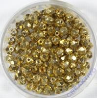 Glasschliffperle goldfarben 4mm bedampft
