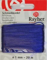 Rayher Schmuckkordel 20m 1mm mittelblau