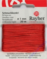 Rayher Schmuckkordel 20m 1mm rot
