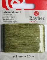 Rayher Schmuckkordel 20m 1mm olive