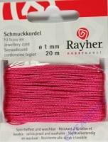 Rayher Schmuckkordel 20m 1mm pink