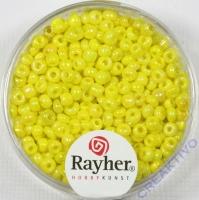 Rocailles 2,6mm ø opak gelüstert gelb