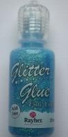 Glitter Glue irisierend 20ml hellblau