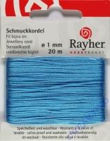 Rayher Schmuckkordel 20m 1mm türkis