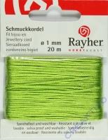 Rayher Schmuckkordel 20m 1mm hellgrün