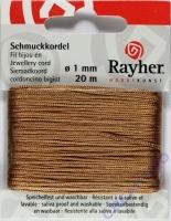 Rayher Schmuckkordel 20m 1mm kastanie