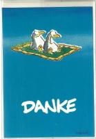 Jan Vis Doppelkarte 17x12cm Danke