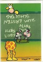 Jan Vis Doppelkarte 17x12cm Zum ersten Schultag I