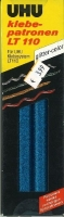 UHU Klebepatronen LT110 glitter-color blau 50g
