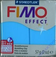 Fimo Effekt Modelliermasse 57g blau transparent