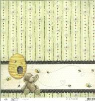 Scrapbooking Papier Honey Bear