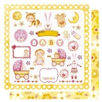 Scrapbooking Papier Baby Girl Things (Auslaufartikel)