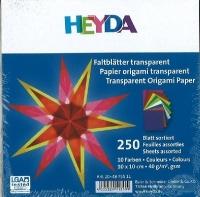 Faltblätter transparent 10 Farben 10 x 10cm