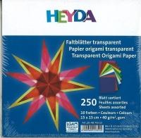 Faltblätter transparent 10 Farben 15 x 15cm