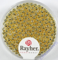 Plastik Rundperle 240St. 2,5mm gold