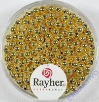Plastik Rundperle 250St. 3mm gold