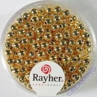 Plastik Rundperle 150St. 4mm gold