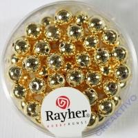 Plastik Rundperle 65St. 6mm gold