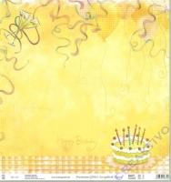 Premium Glitter Scrapbook paper Geburtstag 03