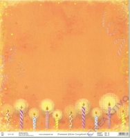 Premium Glitter Scrapbook paper Geburtstag 05