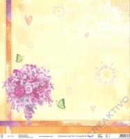 Premium Glitter Scrapbook paper Frühling 07