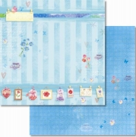 Premium Glitter Scrapbook paper Frühling 08