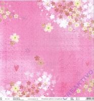 Premium Glitter Scrapbook paper Frühling 09
